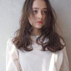 ミルクティー グレージュ アッシュ ミルクティーベージュ ヘアスタイルや髪型の写真・画像