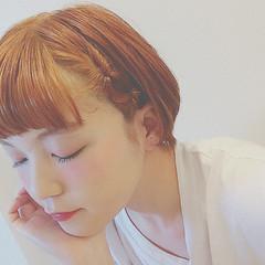 ショート 春 ヘアアレンジ ガーリー ヘアスタイルや髪型の写真・画像