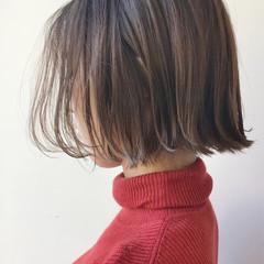 ラフ ハイライト 抜け感 ボブ ヘアスタイルや髪型の写真・画像