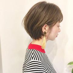 色気 前髪あり 大人かわいい ショート ヘアスタイルや髪型の写真・画像