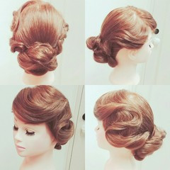 モード ウェーブ ヘアアレンジ ミディアム ヘアスタイルや髪型の写真・画像