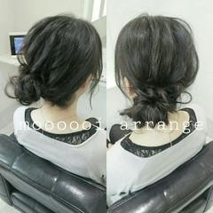 ショート シニヨン 大人かわいい ヘアアレンジ ヘアスタイルや髪型の写真・画像