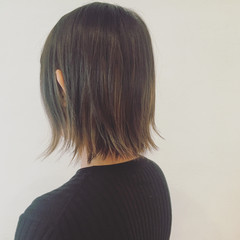 インナーカラー グラデーションカラー ボブ 外国人風 ヘアスタイルや髪型の写真・画像