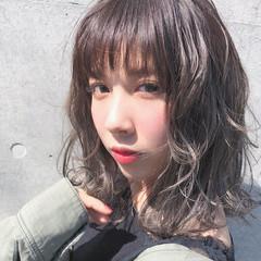 ナチュラル ヘアアレンジ ミディアム 外国人風カラー ヘアスタイルや髪型の写真・画像