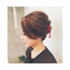 花火大会 色気 ロング 上品 ヘアスタイルや髪型の写真・画像