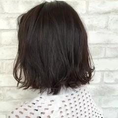 ゆるふわ 透明感 ミディアム デート ヘアスタイルや髪型の写真・画像