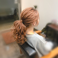 フェミニン ブライダル ヘアセット 結婚式 ヘアスタイルや髪型の写真・画像