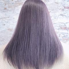 セミロング エレガント 艶髪 グラデーションカラー ヘアスタイルや髪型の写真・画像