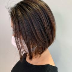夏のヘアケア対策 ボブ 不器用さん向け簡単アレンジ ナチュラル ヘアスタイルや髪型の写真・画像