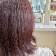 ボブ ピンクブラウン ラズベリーピンク 大人かわいい ヘアスタイルや髪型の写真・画像
