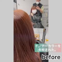 透明感カラー お洒落 セミロング 艶髪 ヘアスタイルや髪型の写真・画像