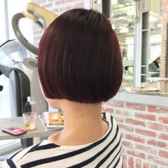 ピンク 色気 ダブルカラー ショート ヘアスタイルや髪型の写真・画像
