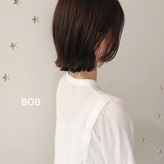 ナチュラル ショートボブ ボブ ミニボブ ヘアスタイルや髪型の写真・画像
