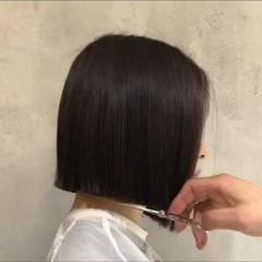 ショートボブ ボブ 外ハネ モード ヘアスタイルや髪型の写真・画像
