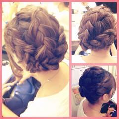 編み込み 結婚式 和装 ヘアアレンジ ヘアスタイルや髪型の写真・画像