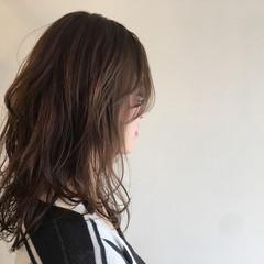 ゆるふわ フェミニン 内巻き セミロング ヘアスタイルや髪型の写真・画像