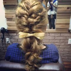 ショート ゆるふわ 三つ編み ナチュラル ヘアスタイルや髪型の写真・画像