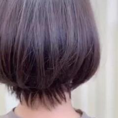 ショートヘア フェミニン ボブ ミニボブ ヘアスタイルや髪型の写真・画像