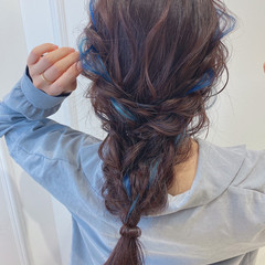 セルフヘアアレンジ セミロング 大人ロング ガーリー ヘアスタイルや髪型の写真・画像