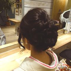 パーティ アップスタイル セミロング ヘアアレンジ ヘアスタイルや髪型の写真・画像