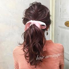 ヘアアレンジ 簡単ヘアアレンジ 女子力 ロング ヘアスタイルや髪型の写真・画像