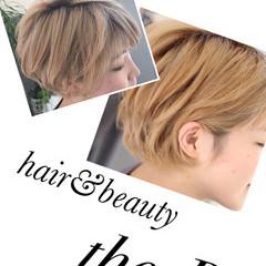 小顔 ショート 金髪 ハイライト ヘアスタイルや髪型の写真・画像