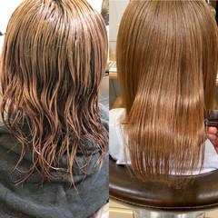トリートメント ミディアム ナチュラル 髪質改善トリートメント ヘアスタイルや髪型の写真・画像