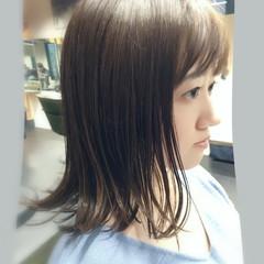 大人ハイライト フェミニン レイヤーカット 切りっぱなしボブ ヘアスタイルや髪型の写真・画像
