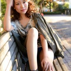 フェミニン ミディアム 大人かわいい モテ髪 ヘアスタイルや髪型の写真・画像