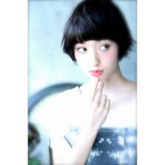 ナチュラル 黒髪 春 ショート ヘアスタイルや髪型の写真・画像