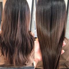 セミロング ナチュラル 髪質改善トリートメント オリーブカラー ヘアスタイルや髪型の写真・画像