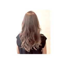 ロング グラデーションカラー アッシュ ハイライト ヘアスタイルや髪型の写真・画像