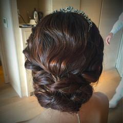 波ウェーブ 結婚式 大人かわいい ロング ヘアスタイルや髪型の写真・画像