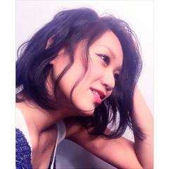色気 ボブ 暗髪 パーマ ヘアスタイルや髪型の写真・画像