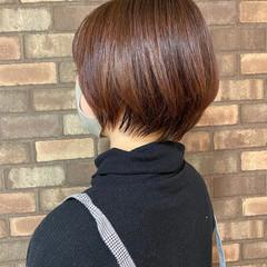 イルミナカラー 大人ショート 透明感 ショートヘア ヘアスタイルや髪型の写真・画像