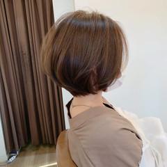丸みショート 大人かわいい ショートボブ フェミニン ヘアスタイルや髪型の写真・画像