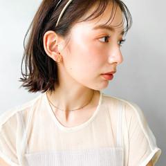 切りっぱなしボブ 韓国 レイヤーカット ウルフカット ヘアスタイルや髪型の写真・画像