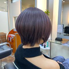 ピンクアッシュ ショートヘア ラベンダーピンク ピンクバイオレット ヘアスタイルや髪型の写真・画像