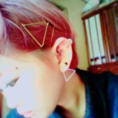 マッシュ ショート ピンク ヘアピン ヘアスタイルや髪型の写真・画像