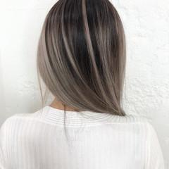 ハイライト ブリーチ 大人ハイライト ヘアカラー ヘアスタイルや髪型の写真・画像