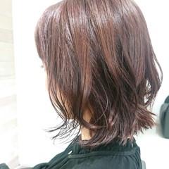 お手入れ簡単!! 簡単スタイリング ピンク フェミニン ヘアスタイルや髪型の写真・画像