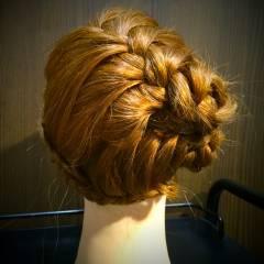 モテ髪 コンサバ 夏 編み込み ヘアスタイルや髪型の写真・画像
