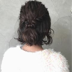 デート 結婚式 ヘアアレンジ ボブ ヘアスタイルや髪型の写真・画像