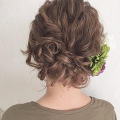 アップスタイル ヘアアレンジ ロング 編み込み ヘアスタイルや髪型の写真・画像