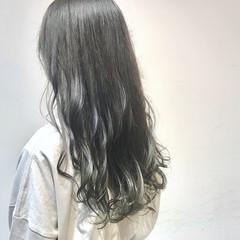 アンニュイほつれヘア ロング オリーブカラー オリーブアッシュ ヘアスタイルや髪型の写真・画像
