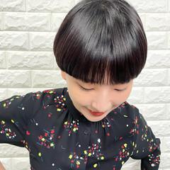 ナチュラル マッシュヘア 丸みショート マッシュショート ヘアスタイルや髪型の写真・画像