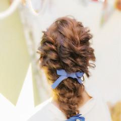 大人かわいい 簡単ヘアアレンジ ロング ゆるふわ ヘアスタイルや髪型の写真・画像