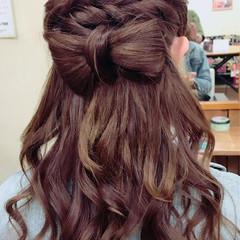 女子会 結婚式 ヘアアレンジ ガーリー ヘアスタイルや髪型の写真・画像