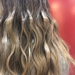 ニュアンス デート セミロング 前髪あり ヘアスタイルや髪型の写真・画像