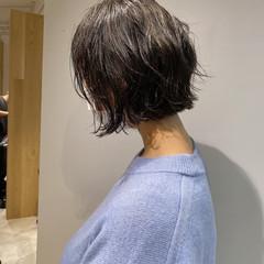 ニュアンスヘア ミニボブ ショートボブ ナチュラル ヘアスタイルや髪型の写真・画像